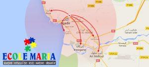 Carte de transport scolaire privé à Agadir - Accessible sur un vaste territoire de grand Agadir