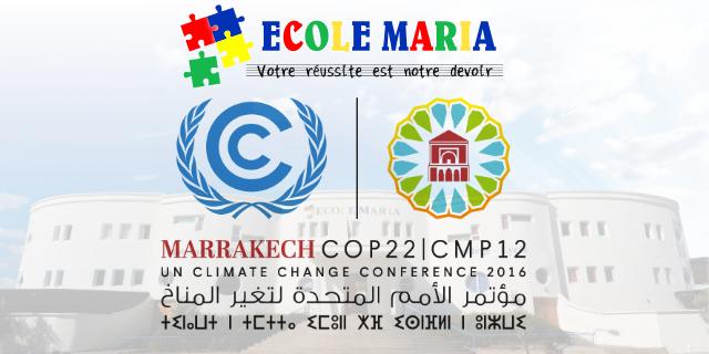 Ecole Maria et COP22.