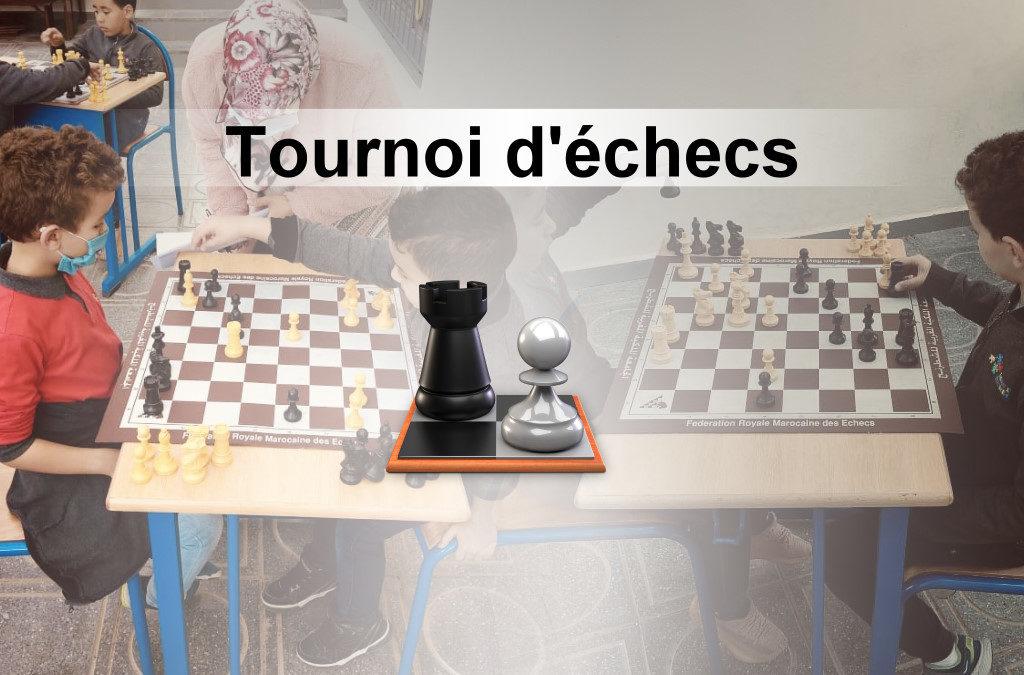 Tournoi d'échecs à l'École Maria