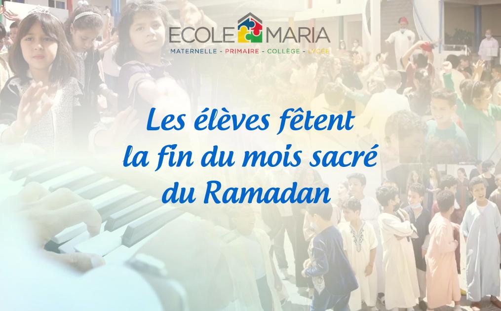 Nos élèves fêtent la fin du mois sacré de Ramadan
